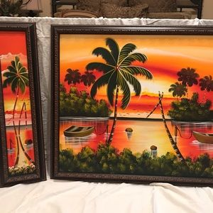 Island Themed Canvas Oil Paintings
